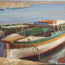 Arte: MARINA BARCAS EN EL PUERTO.. Lote 111739695