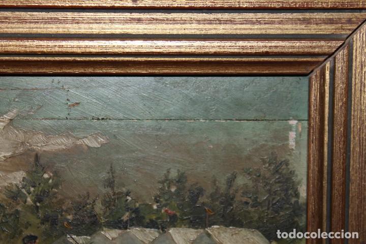 Arte: INTERESANTE ÓLEO SOBRE TABLA DEL SIGLO XIX - FIESTA CAMPERA DE GRAN DETALLISMO - FIRMA ILEGIBLE - Foto 9 - 111809731