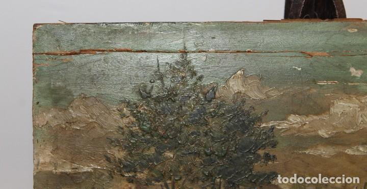 Arte: INTERESANTE ÓLEO SOBRE TABLA DEL SIGLO XIX - FIESTA CAMPERA DE GRAN DETALLISMO - FIRMA ILEGIBLE - Foto 12 - 111809731