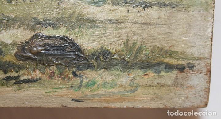 Arte: INTERESANTE ÓLEO SOBRE TABLA DEL SIGLO XIX - FIESTA CAMPERA DE GRAN DETALLISMO - FIRMA ILEGIBLE - Foto 13 - 111809731