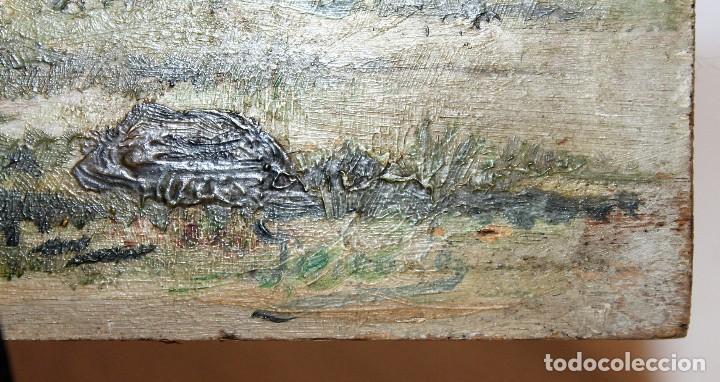 Arte: INTERESANTE ÓLEO SOBRE TABLA DEL SIGLO XIX - FIESTA CAMPERA DE GRAN DETALLISMO - FIRMA ILEGIBLE - Foto 14 - 111809731