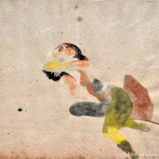 Arte: JORGE CASTILLO CASALDERREY (PONTEVEDRA, 1925) TÉCNICA MIXTA FECHADA EN NEW YORK DEL AÑO 1983 . Lote 111843323