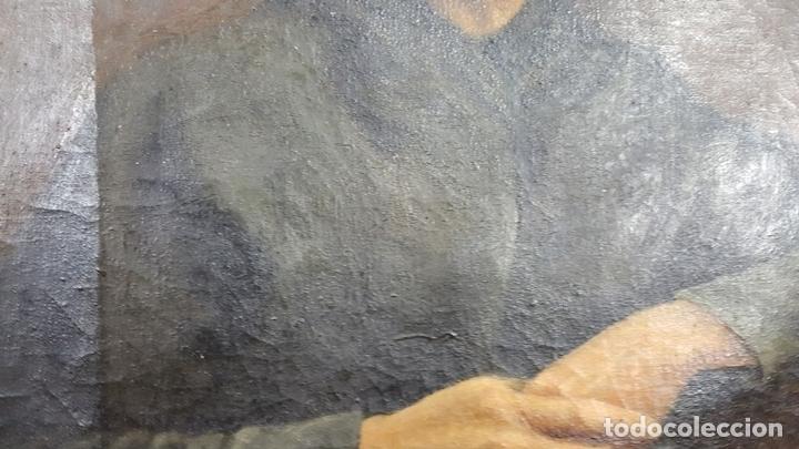 Arte: RETRATO DE ANCIANA. ÓLEO SOBRE LIENZO. SIGLO XIX-XX. - Foto 2 - 111846127