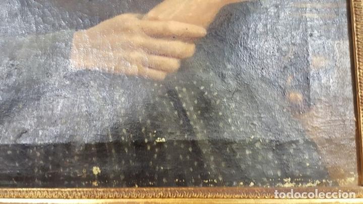 Arte: RETRATO DE ANCIANA. ÓLEO SOBRE LIENZO. SIGLO XIX-XX. - Foto 4 - 111846127