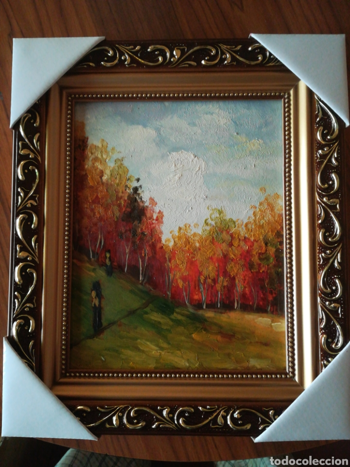 ÓLEO ENMARCADO PAISAJE 27.5 X 32.5 (Arte - Pintura - Pintura al Óleo Moderna sin fecha definida)