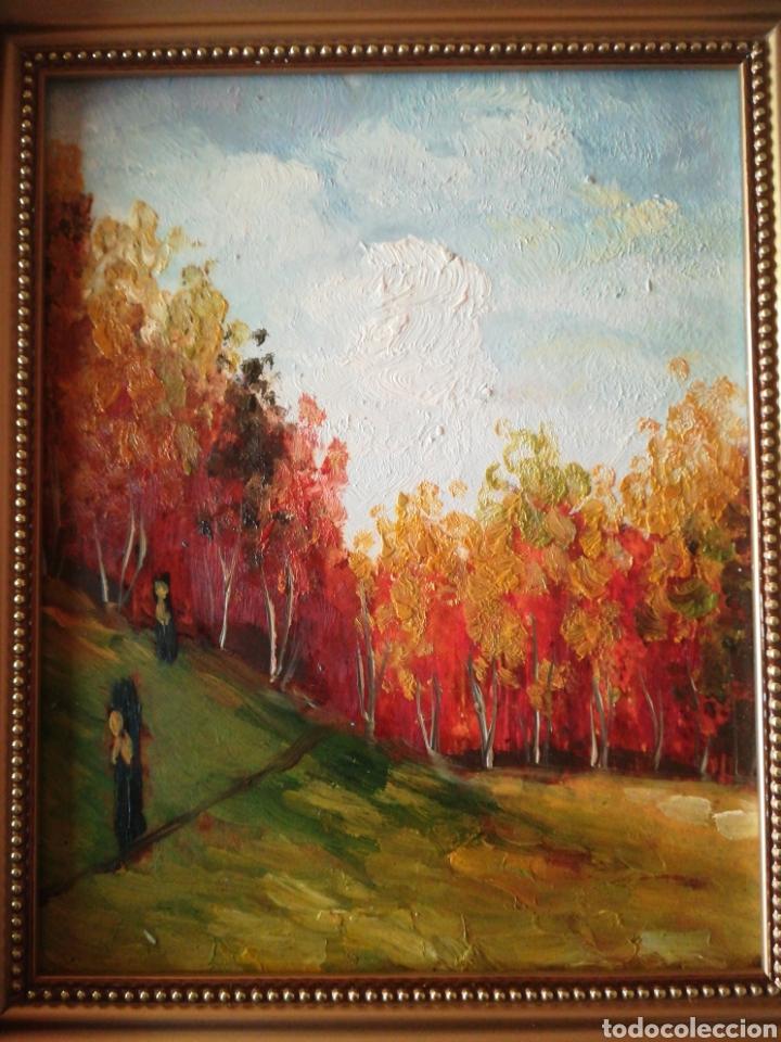 Arte: Óleo enmarcado paisaje 27.5 x 32.5 - Foto 2 - 111850172
