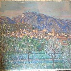 Arte: JOAQUÍN TUDELA Y PERALES (1898-1970) PINTOR ESPAÑOL - ÓLEO SOBRE TELA - VISTA DE PUEBLO - XATIVA. Lote 111879215