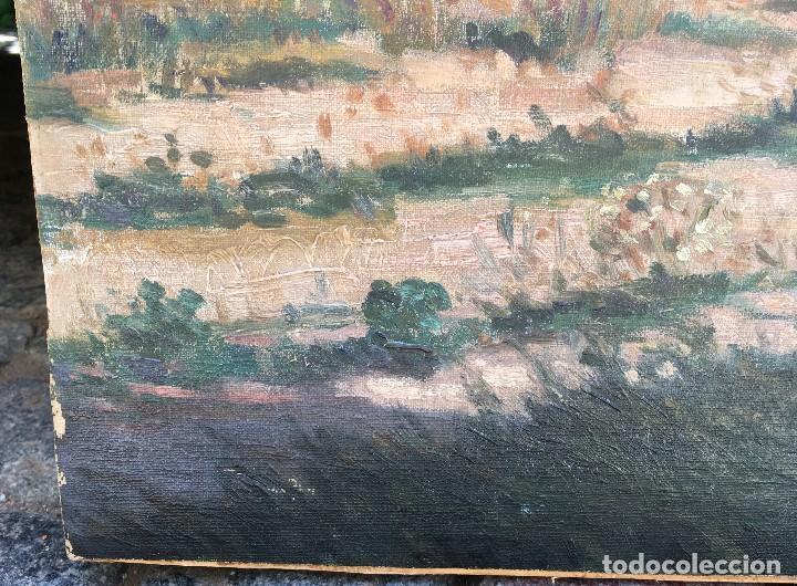 Arte: Victoriano de Vicente Gil (1866-1939) Pintor Venezolano - Óleo sobre tela pegado a cartón - Foto 5 - 111879303