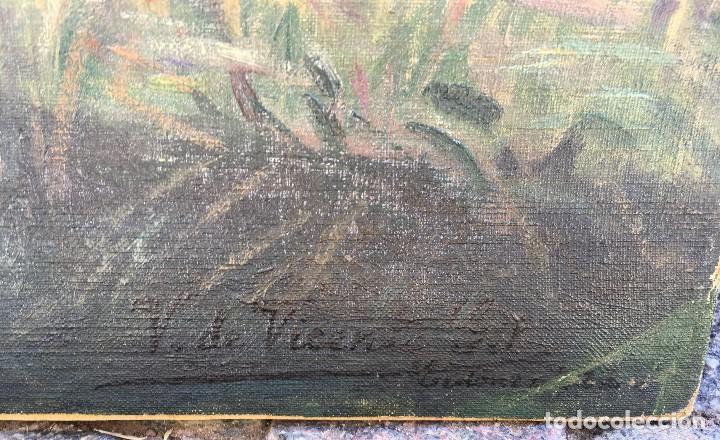 Arte: Victoriano de Vicente Gil (1866-1939) Pintor Venezolano - Óleo sobre tela pegado a cartón - Foto 7 - 111879303