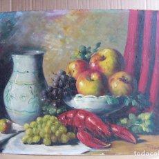 Arte: CUADRO PINTURA AL OLEO IMPRESIONISTA - NATURALEZA MUERTA BODEGON - FIRMADO DIAZ. Lote 111897527