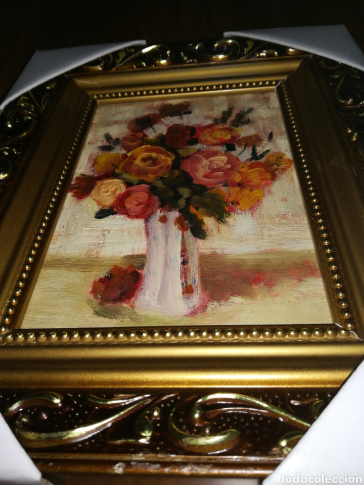 Arte: Óleo enmarcado flores 21 x 26 - Foto 2 - 111909222