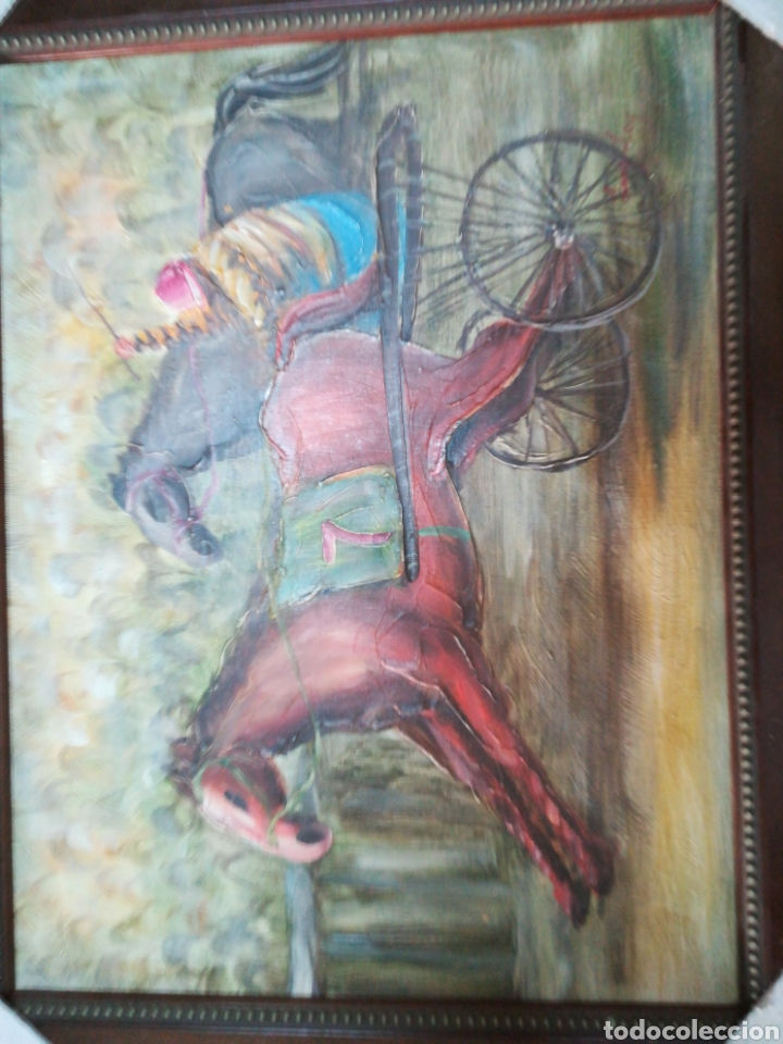 óleo enmarcado carrera de caballos 48x38 - Comprar Pintura al Óleo ...