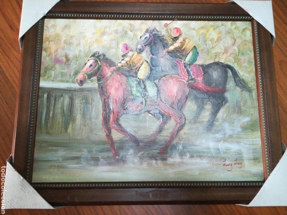 óleo enmarcado carrera de caballos 48 x 38 - Comprar Pintura al Óleo ...