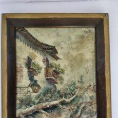 Arte: OLEO SOBRE TABLA DE CARTÓN, S.XIX-XX, ENMARCADO. FIRMA ILEGIBLE. ESCUEÑA ESPAÑOLA.. Lote 112056416