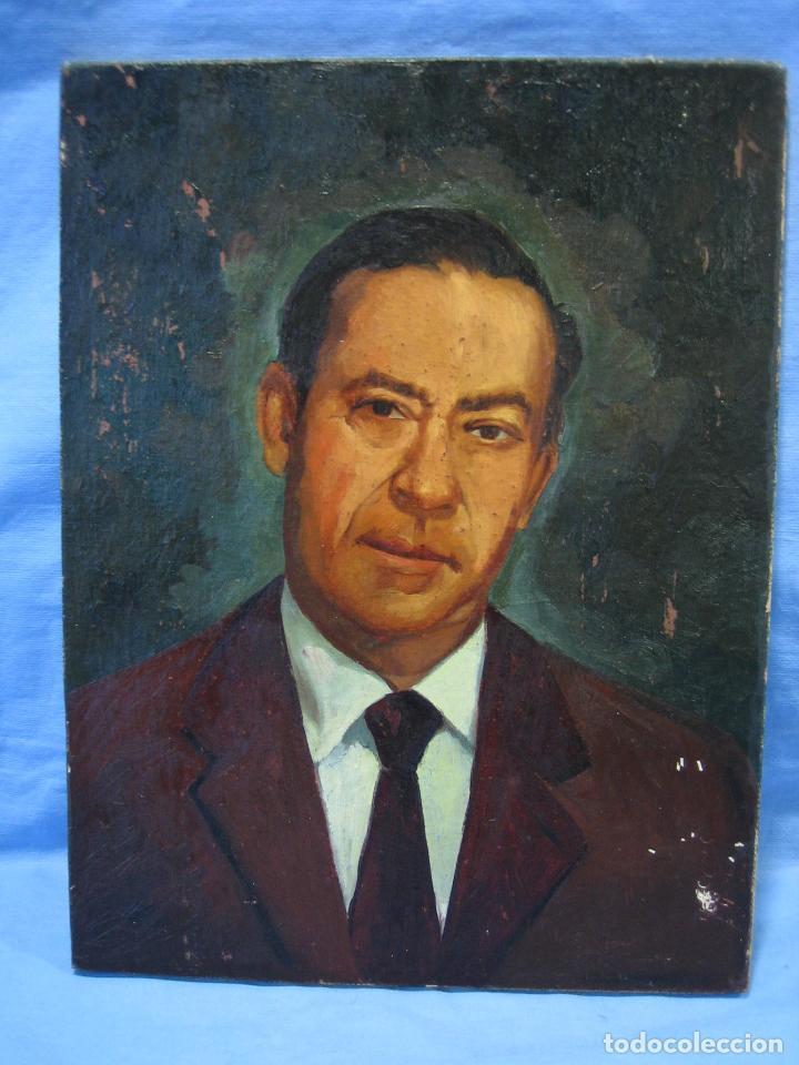 Arte: Retrato al óleo sobre tabla de aglomerado. Persona de Córdoba 42x32 cm - Foto 2 - 112063295
