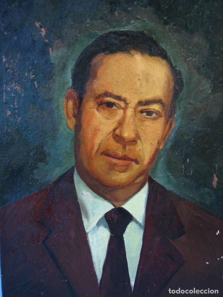 Arte: Retrato al óleo sobre tabla de aglomerado. Persona de Córdoba 42x32 cm - Foto 3 - 112063295