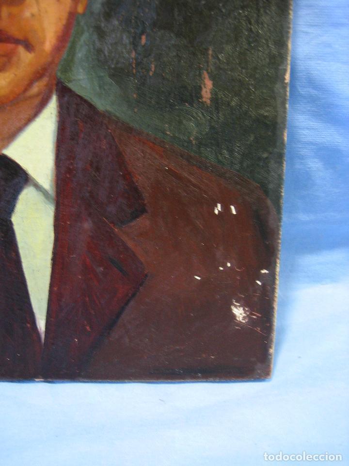 Arte: Retrato al óleo sobre tabla de aglomerado. Persona de Córdoba 42x32 cm - Foto 4 - 112063295
