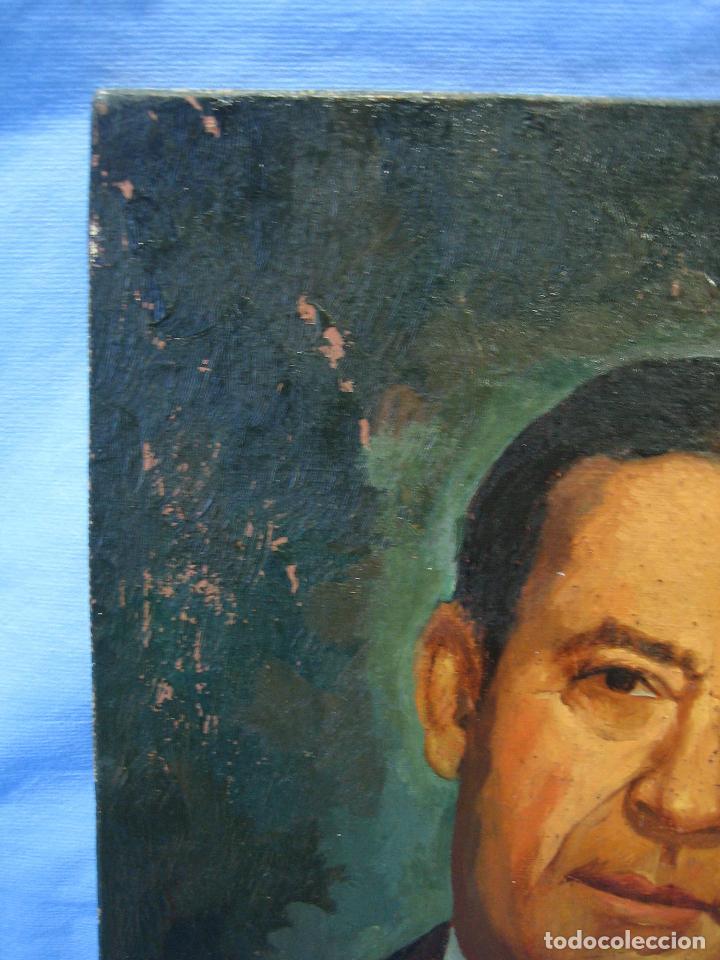 Arte: Retrato al óleo sobre tabla de aglomerado. Persona de Córdoba 42x32 cm - Foto 5 - 112063295