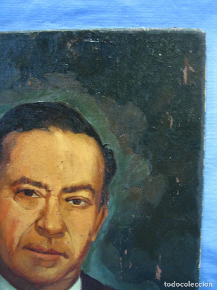 Arte: Retrato al óleo sobre tabla de aglomerado. Persona de Córdoba 42x32 cm - Foto 6 - 112063295