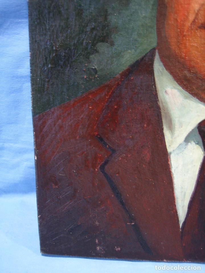 Arte: Retrato al óleo sobre tabla de aglomerado. Persona de Córdoba 42x32 cm - Foto 7 - 112063295
