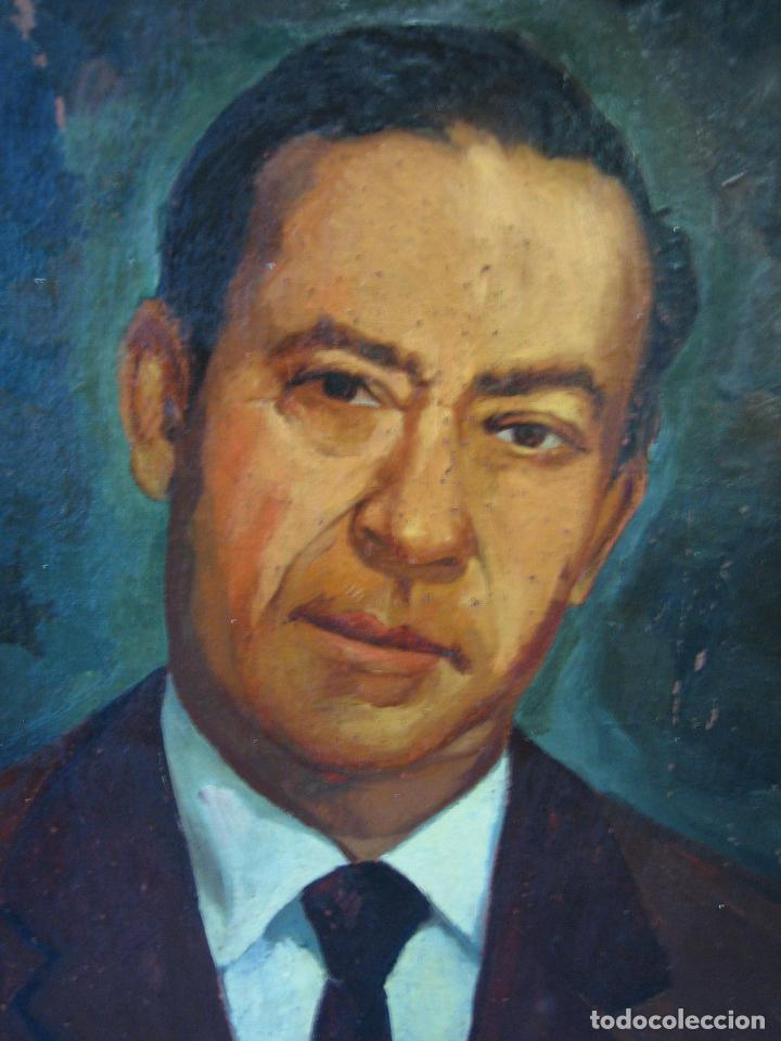 Arte: Retrato al óleo sobre tabla de aglomerado. Persona de Córdoba 42x32 cm - Foto 8 - 112063295
