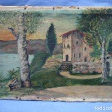 Arte: ANTIGUO OLE DE PAISAJE. MEDIDAS 24X35 CM. Lote 112065243