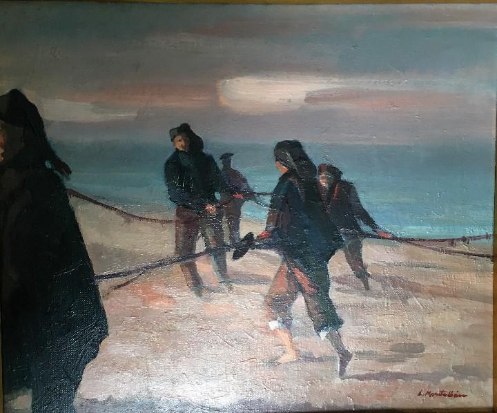 Arte: Pescadores por Luis Montalbán Garrido (Granada 1930 - Guetxo 2014) - Foto 2 - 112127479