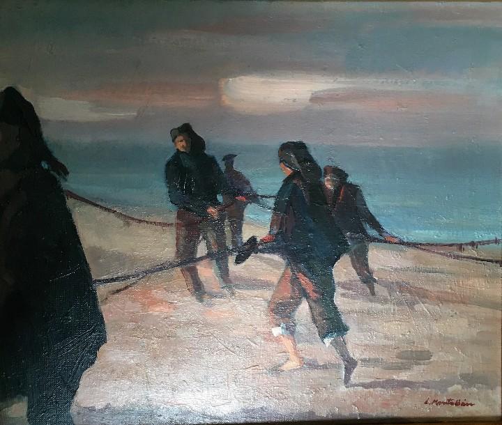 Arte: Pescadores por Luis Montalbán Garrido (Granada 1930 - Guetxo 2014) - Foto 3 - 112127479