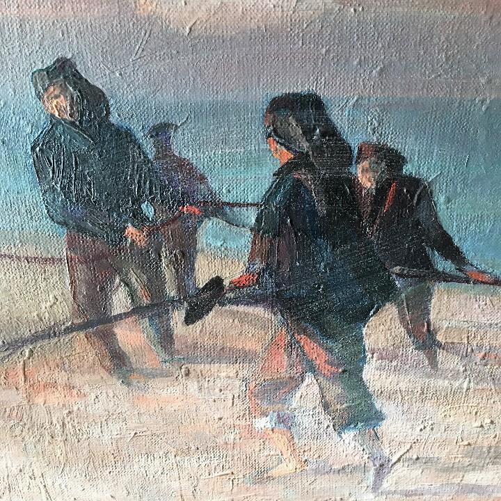 Arte: Pescadores por Luis Montalbán Garrido (Granada 1930 - Guetxo 2014) - Foto 7 - 112127479