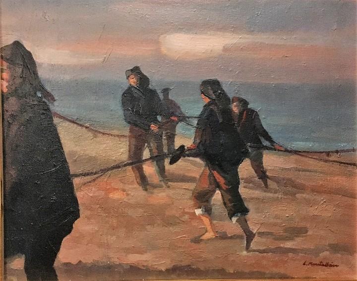 Arte: Pescadores por Luis Montalbán Garrido (Granada 1930 - Guetxo 2014) - Foto 8 - 112127479