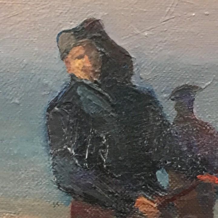 Arte: Pescadores por Luis Montalbán Garrido (Granada 1930 - Guetxo 2014) - Foto 10 - 112127479