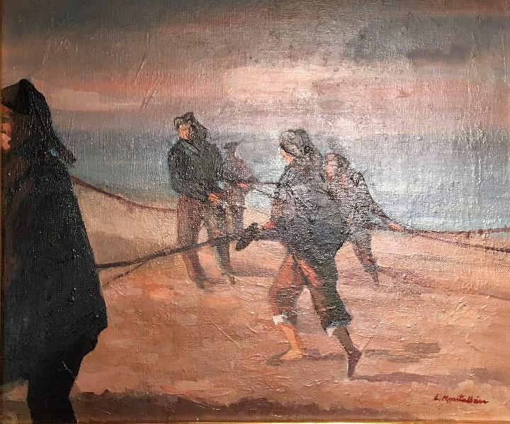 Arte: Pescadores por Luis Montalbán Garrido (Granada 1930 - Guetxo 2014) - Foto 14 - 112127479