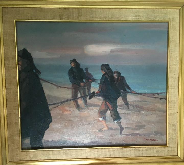 Arte: Pescadores por Luis Montalbán Garrido (Granada 1930 - Guetxo 2014) - Foto 16 - 112127479