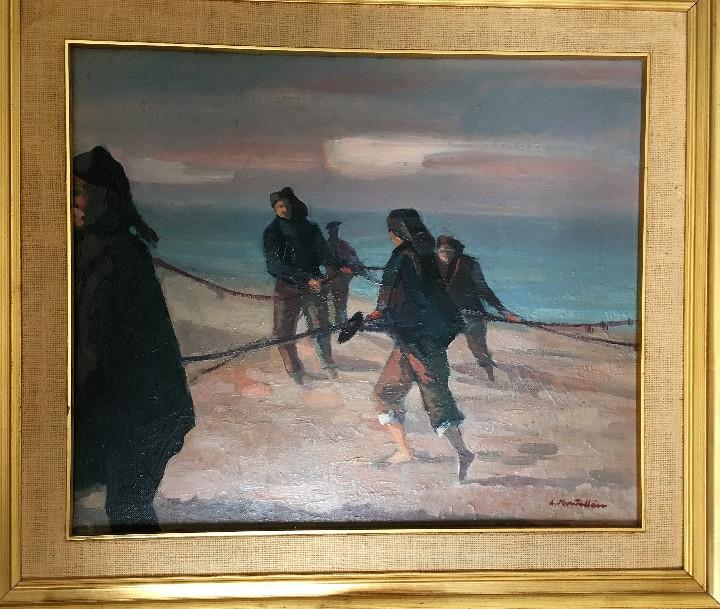 Arte: Pescadores por Luis Montalbán Garrido (Granada 1930 - Guetxo 2014) - Foto 17 - 112127479