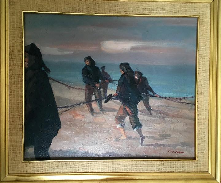 Arte: Pescadores por Luis Montalbán Garrido (Granada 1930 - Guetxo 2014) - Foto 18 - 112127479
