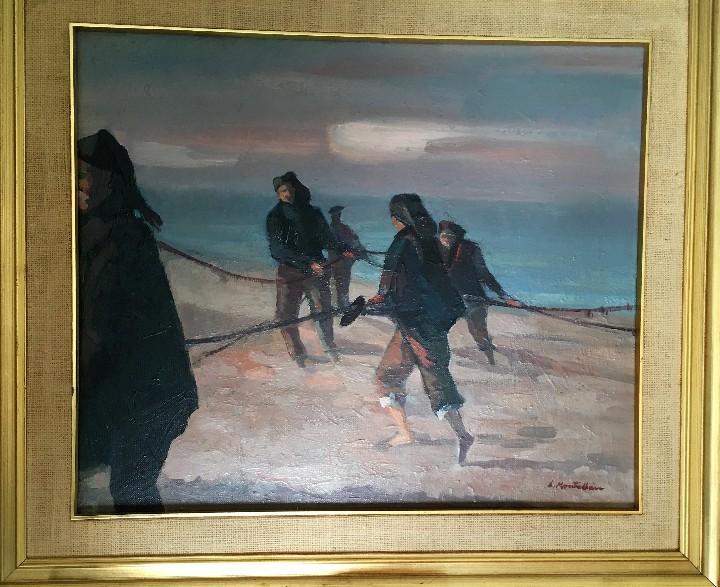 Arte: Pescadores por Luis Montalbán Garrido (Granada 1930 - Guetxo 2014) - Foto 19 - 112127479