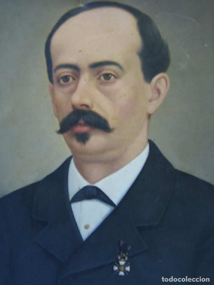 Arte: Óleo retrato por Modesto Montilla Aguilar pintor de Puente Genil. Córdoba. Medidas 50x65 cm - Foto 7 - 112165659