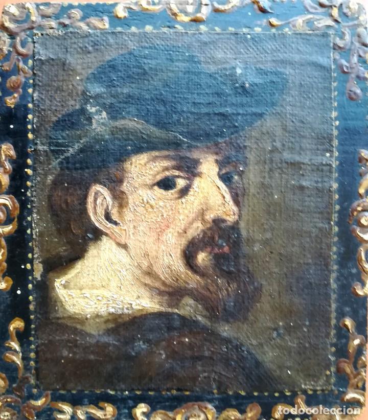 Arte: PINTURA,SIGLO XVIII,POSIBLE RETRATO MIGUEL DE CERVANTES DE JOVEN,AUTOR DE DON QUIJOTE DE LA MANCHA - Foto 2 - 97821879
