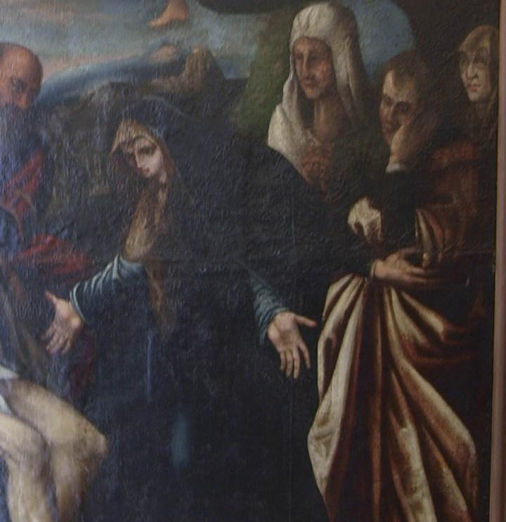 Arte: Lienzo al óleo del siglo XVI de estilo Manierista. Tamaño 185 cm X 135 cm - Foto 6 - 104887743