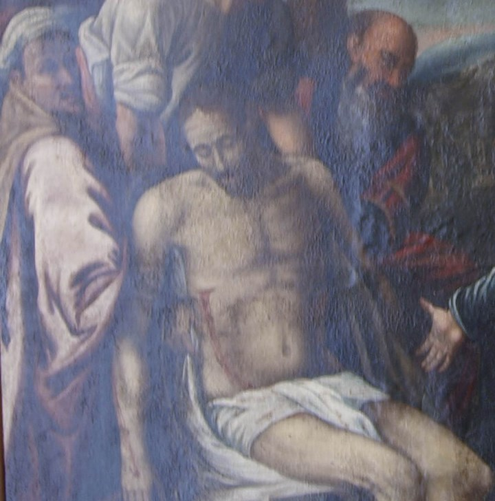 Arte: Lienzo al óleo del siglo XVI de estilo Manierista. Tamaño 185 cm X 135 cm - Foto 7 - 104887743