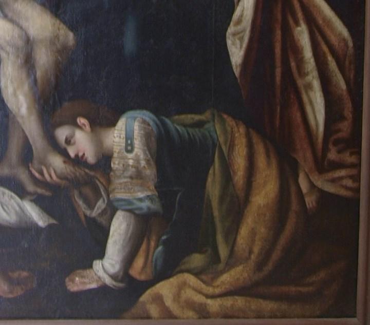 Arte: Lienzo al óleo del siglo XVI de estilo Manierista. Tamaño 185 cm X 135 cm - Foto 8 - 104887743