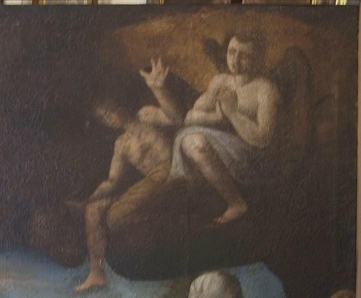 Arte: Lienzo al óleo del siglo XVI de estilo Manierista. Tamaño 185 cm X 135 cm - Foto 9 - 104887743