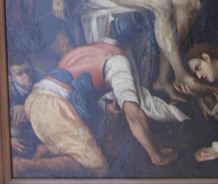 Arte: Lienzo al óleo del siglo XVI de estilo Manierista. Tamaño 185 cm X 135 cm - Foto 10 - 104887743