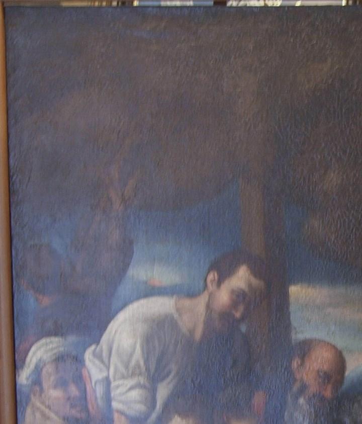 Arte: Lienzo al óleo del siglo XVI de estilo Manierista. Tamaño 185 cm X 135 cm - Foto 11 - 104887743