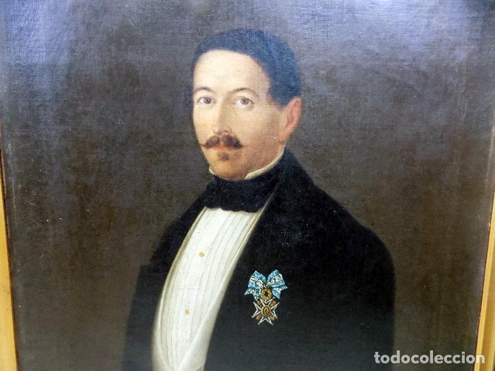 Arte: oleo y nombramiento de la orden de carlos III, villarrobledo ,albacete, 1855, epoca isabel II - Foto 4 - 112250867