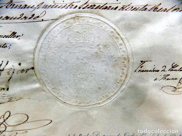 Arte: oleo y nombramiento de la orden de carlos III, villarrobledo ,albacete, 1855, epoca isabel II - Foto 8 - 112250867