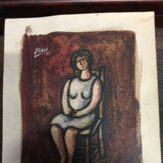 Arte: CUADRO PINTURA ORIGINAL DE RICARDO ISASI OLASCOAGA -- YSASI -- 1981.. Lote 112306831