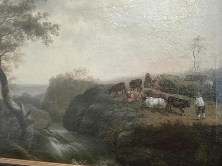 Arte: PAISAJE BUCOLICO HOLANDES - S.XVIII - OLEO SOBRE LIENZO - IMPORTANTE MARCO - ESCUELA HOLANDESA - - Foto 3 - 119155479