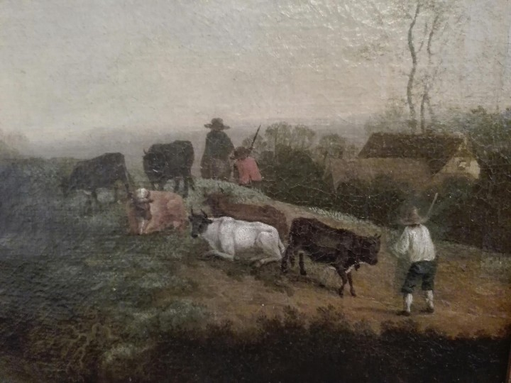 Arte: PAISAJE BUCOLICO HOLANDES - S.XVIII - OLEO SOBRE LIENZO - IMPORTANTE MARCO - ESCUELA HOLANDESA - - Foto 4 - 119155479