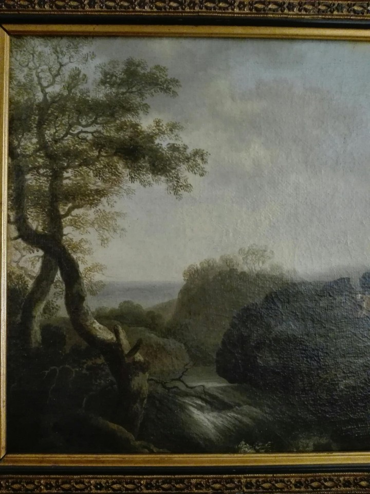 Arte: PAISAJE BUCOLICO HOLANDES - S.XVIII - OLEO SOBRE LIENZO - IMPORTANTE MARCO - ESCUELA HOLANDESA - - Foto 5 - 119155479